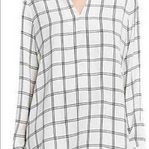 Vince Camuto Long Sleeve Window Pane Shirt XL